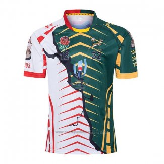 Maillot Afrique du Sud Angleterre Rugby RWC 2019 Champion