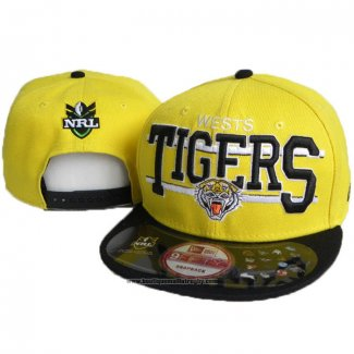 NRL Snapback Casquette Wests Tigers Jaune