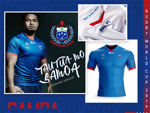 Maillot Rugby Samoa 2019